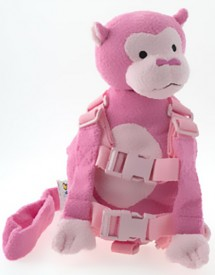 Goldbug Europe Fun Backpack Monkey Pink