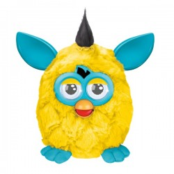 Furby cool yellow body, Blue ears and feet.